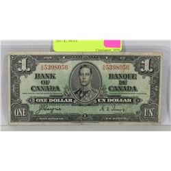 1937 CANADIAN $1 NOTE