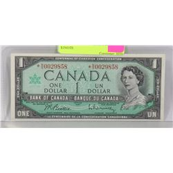 1967 CANADIAN ASTRISK N/O REPLACEMENT $1NOTE