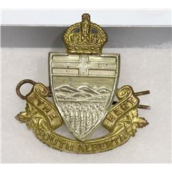 WWII THE SOUTHERN ALBERTA REGIMENT CAP BADGE