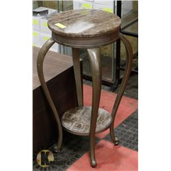 """2 TIER MARBLE STAND, 28"""" HIGH"""