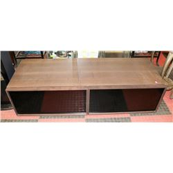 TV ENTERTAINMENT STAND, WOOD TONE. FURNITURE