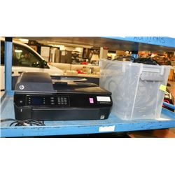 HP OFFICE JET SOLD WITH TOTE OF HDMI CABLES.