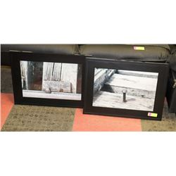 PAIR OF CNR FRAMED PICTURES