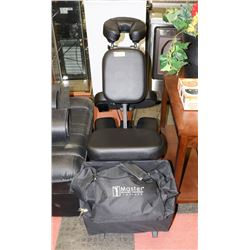 BLACK FOLDING MASSAGE CHAIR