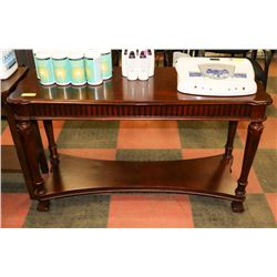 "WOOD TONE SOFA TABLE, 50""X18""X29.5"""