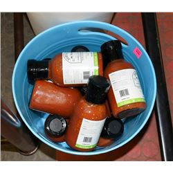 BIN OF ASSORTED SAUCES ON CHOICE