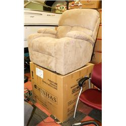 PAIR OF NEW MOCHA MICROFIBRE ROCKER RECLINERS