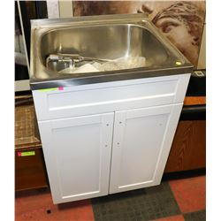 NEW STAINLESS STEEL UTILITY LAUNDRY SINK WITH