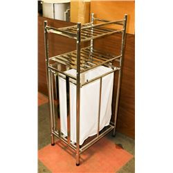 METAL BATHROOM STAND WITH CLEANING SUPPLIES