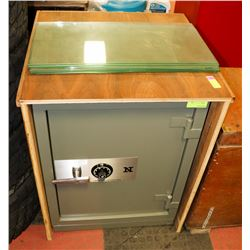 COFFRE FORT NATIONAL SAFE WITH TEAK WOOD COVER