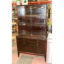 "VINTAGE CHINA CABINET, 38""X18.5""X69""."
