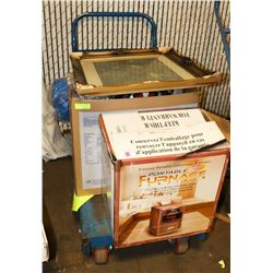 CART OF MISC. ESTATE ITEMS INCL TOOLS AND