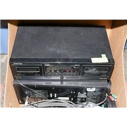PIONEER STEREO EQUIPMENT, DOUBLE CASSETTE PLAYER,