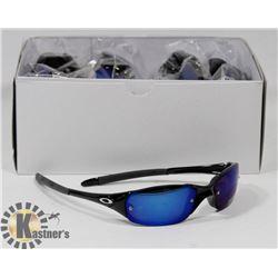 BOX OF OAKLEY STYLE SMOKE BLACK DESIGNER SUNGLASSE