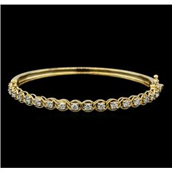 1.57 ctw Diamond Bangle Bracelet - 14KT Yellow Gold
