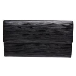 Louis Vuitton Black Epi Leather Porte Monnaie Long Wallet
