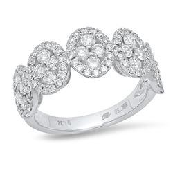 14K Yellow Gold 1.32CTW Diamond Ring, (VS-SI1/VS-SI1/G)