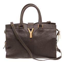 Yves Saint Laurent YSL Gray Sheepskin Leather Mini Cabas ChYc Bag