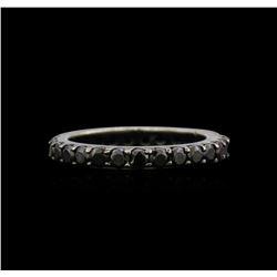 2.00 ctw Black Diamond Ring - 14KT White Gold