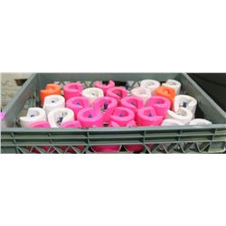 TOTE OF ASSORTED KRYLON FLOURESCENT MARKING PAINT