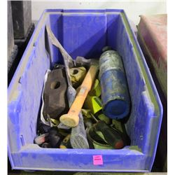 BIN WITH ASSORTED TOOLS