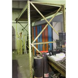 PALLET RACK SECTION, 12FT WIDE X 7-1/2FT TALL
