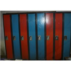 8 BANK SECTION OF LOCKERS