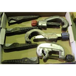 FLAT OF ASSORTED PIPE CUTTERS