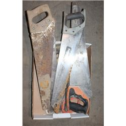 FLAT OF ASSORTED HAND SAWS