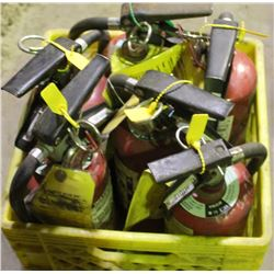 TOTE OF 6 FIRE EXTINGISHERS