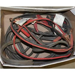 BOX OF VARIOUS LENGTH BOOSTER CABLES