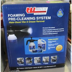 NEW FOAMING PRE-CLEANING SYSTEM