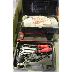 EYE WASH KIT AND VARIOUS TOOLS