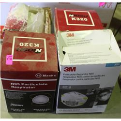 4 BOXES OF N95 PARTICULATE RESPIRATORS