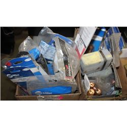 TWO BOXES OF VARIOUS TRUCK PARTS & FITTINGS