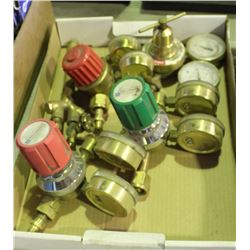 FLAT OF VARIOUS PRESSURE REGULATORS