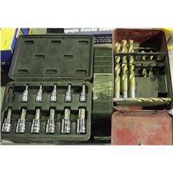 LOT OF DRILL BITS & SOCKETS