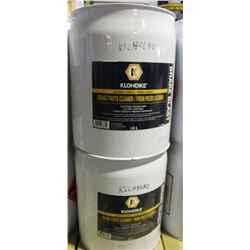 THREE 18L BARRELS OF KLONDIKE BRAKE PARTS CLEANER