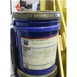 PAIL OF CHEVRON DELO SYN-TRANS HD SAE 50, (15.9KG