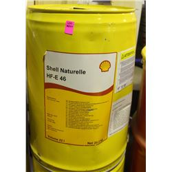 20.2KG PAIL OF SHELL NATURELLE HF03 46 HYDRAULIC