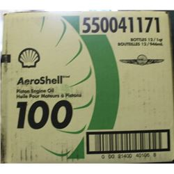CASE OF 12 AEROSHELL PISTON ENGINE OIL W100