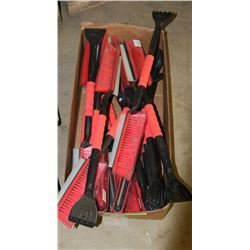 BOX OF NEW TRUCK SNOW BRUSHES