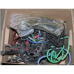 BOX OF ASSORTED BUNGEE CORDS