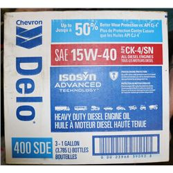 CASE OF DELO HD DIESEL ENGINE OIL, SAE 15W-40