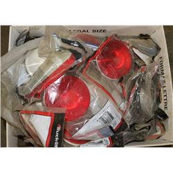 BOX OF VARIOUS NEW RED TRUCK/TRAILER LIGHTS