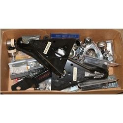 BOX OF VARIOUS NEW TRAILER ACCESSORIES