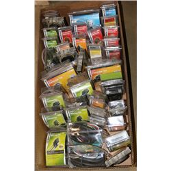 BOX OF VARIOUS NEW TRUCK/TRAILER WIRING KITS, DUST