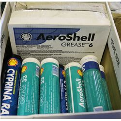 BOX OF ASSORTED AEROSHELL GREASE