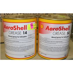 2 CANS OF AEROSHELL GREASE 14