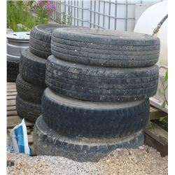LOT OF VARIOUS SIZED TIRES